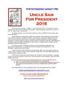 UNCLE SAM FOR PRESIDENT