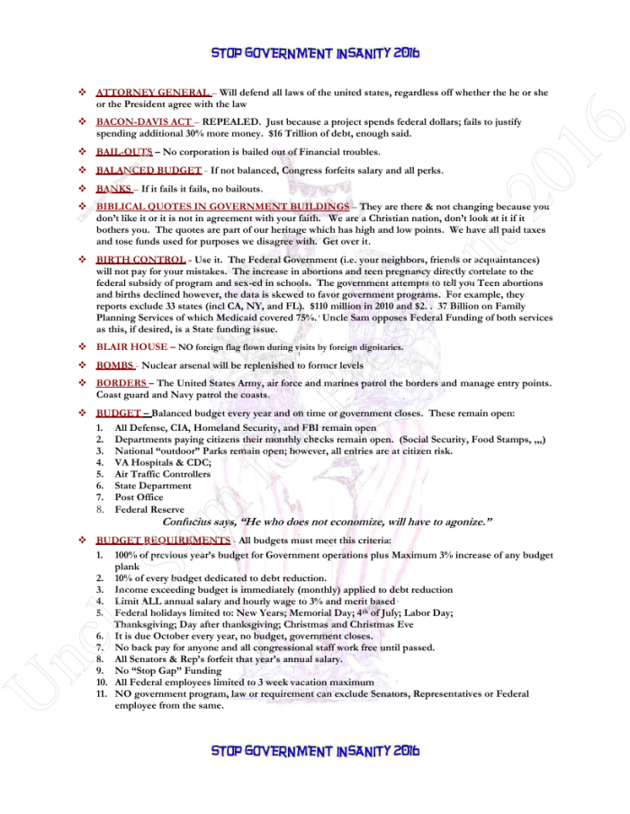 Presidential Policies Page 3 of 27