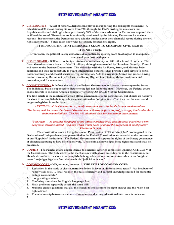 Presidential Policies Page 6 of 27