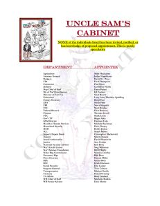 Presidential Cabinet of Uncle Sam