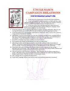 Uncle Sam's Campaign Relations