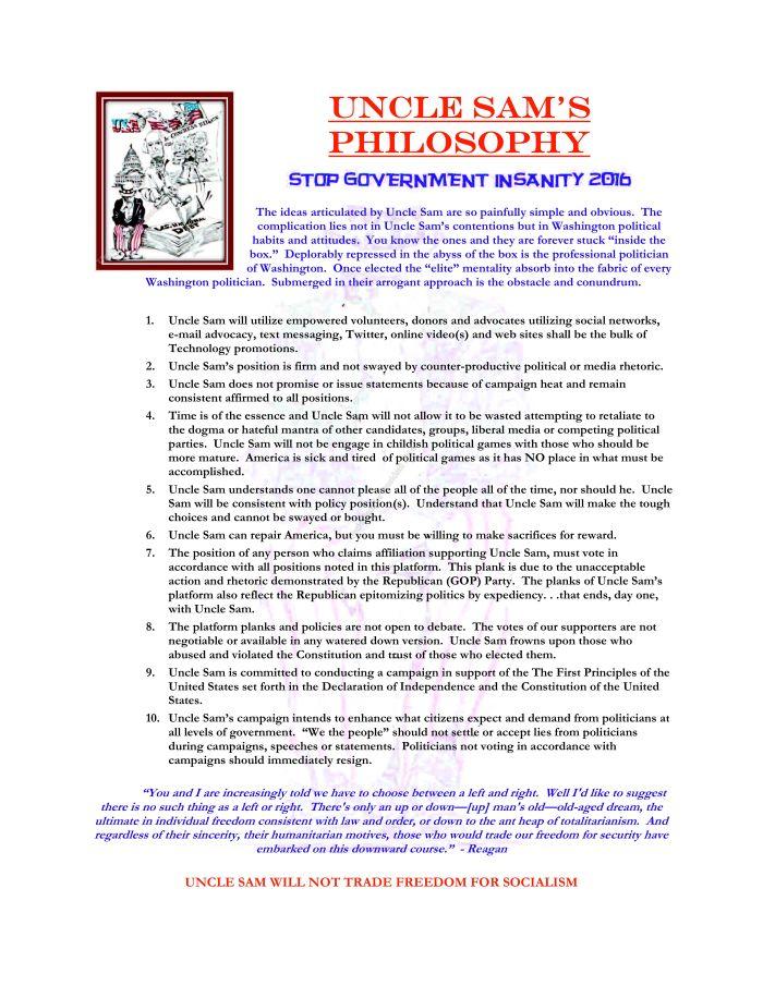 Uncle Sam's Philosohpy