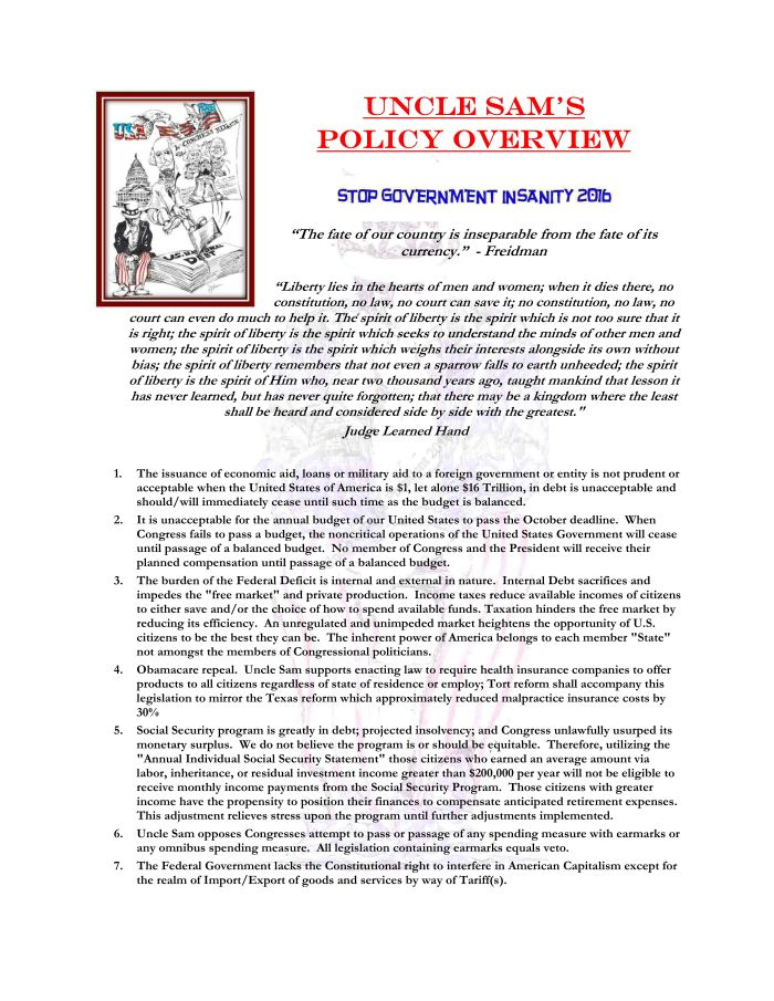 Policy Overview Page 1 of 3