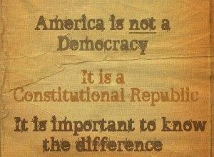 REPUBLIC not democracy