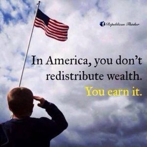 no redistribution of Wealth