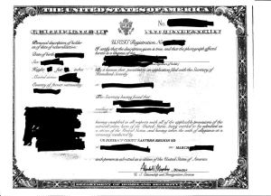 Legal citizenship Document
