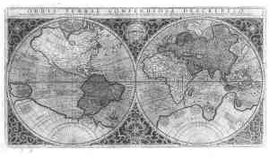 1587 map of the new world