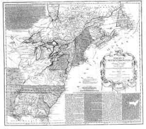 1756 map of colonies and canada