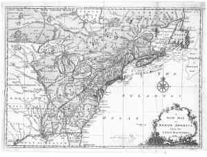 1763 map of eastern  north america