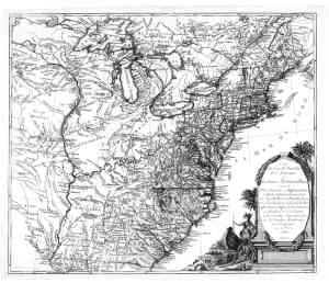 1776 map of US