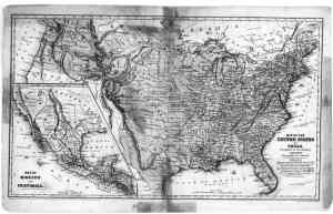 1839 map of US and Texas