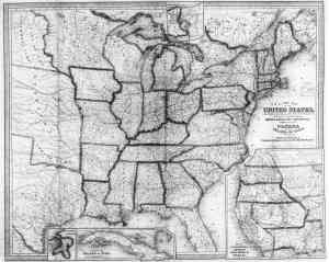 1854 map of the US