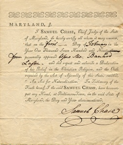 Chase on oath of office