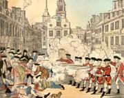 Paul Revere's Famous Color Print Publicizing The Boston Massacre